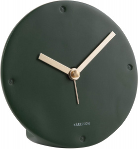 Karlsson alarm clock mantle 12 cm polyresin dark green