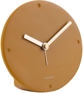 Karlsson alarm clock mantle 12 cm polyresin light brown