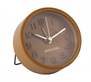 Karlsson alarm clock Mini 5 cm steel brown