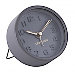 Karlsson alarm clock Mini 5 cm steel grey