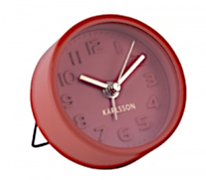 Karlsson alarm clock Mini 5 cm steel red