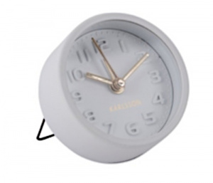 Karlsson alarm clock Mini 5 cm steel white
