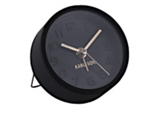 Karlsson alarm clock Mini 5 cm steel black
