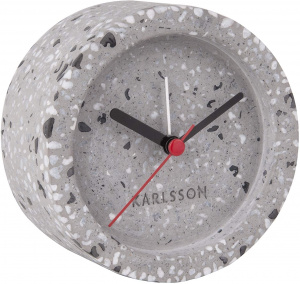Karlsson alarm clock Tom 9,5 x 5,2 cm stone grey