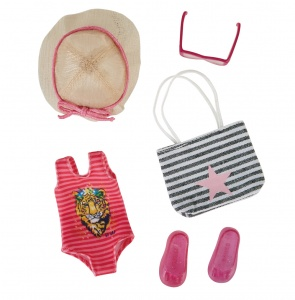 Käthe Kruse Beach Party outfit teen doll dress kit 5-piece