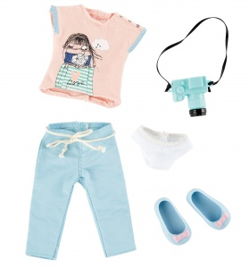 Käthe Kruse Photographer outfit teen doll clothing set 5-piece