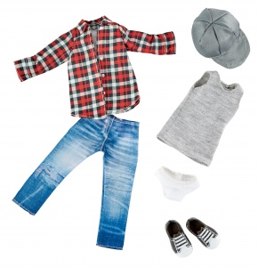 Käthe Kruse Skater outfit teen doll clothing set 6-piece