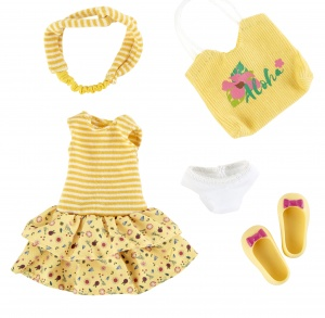 Käthe Kruse Jump Queen outfit teen doll clothing set 5-piece