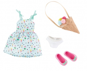 Käthe Kruse Sweet Mint Girl outfit teen doll clothing set 4-piece