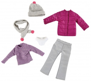 Käthe Kruse Winter outfit teen doll clothing set 6-piece