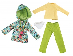 Käthe Kruse Winter outfit tropical teen doll clothing set 4-piece