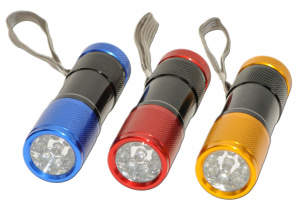 Kids At Work aluminium led zaklamp kleur goud