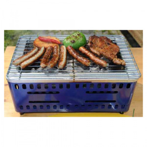 Kids At Work BBQ grill blauw staal 37 cm
