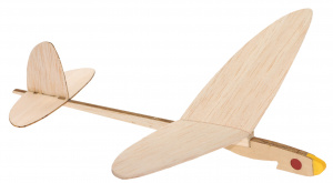 Kids At Work construction kit airplane no. 3 junior wood brown 2-piece