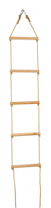 Kids At Work touwladder junior 140 cm hout bruin 9-delig