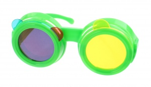 Kids Fun Coloured glasses green