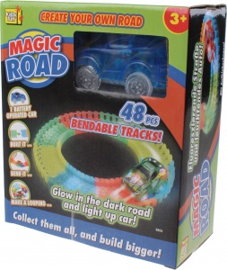 Kids Fun piste de course Magic road blue 48 pièces