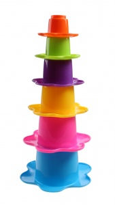 Kids Fun stacking cups flower 6-piece blue