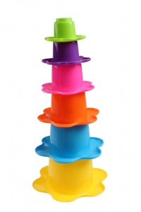Kids Fun stacking cups flower 6-piece yellow