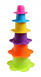 Kids Fun stacking cups flower 6-piece green