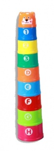 Kids Toys stapelbekers beer 9-delig multicolor