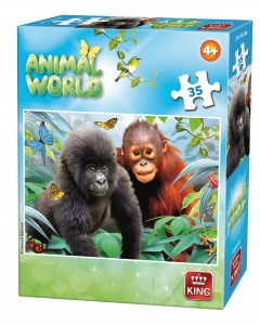 King jigsaw puzzle Animal World monkeys 35 pieces