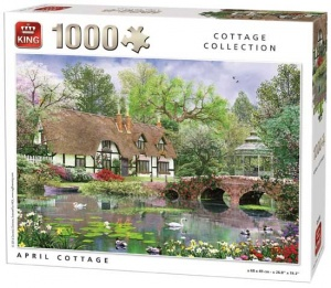 King legpuzzel April Cottage 1000 stukjes