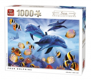 King Vier Puzzleteile Dolphins 1000