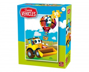 King legpuzzel Funny Vehicles - Construction Vehicle 35 stuks