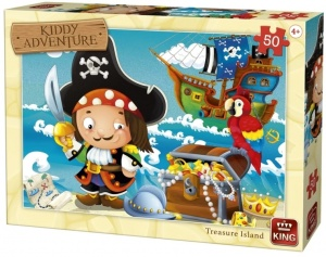 King legpuzzel Kiddy adventure - Treasure Island 50 stukjes