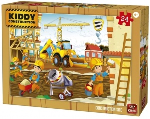 King legpuzzel Kiddy Constructions - construction site 24 st
