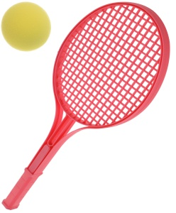 Free and Easy tennisset rood 3-delig 54 cm