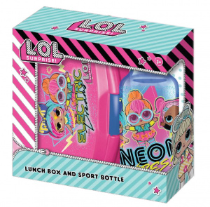 L.O.L. Surprise! lunch box with drinking bottle Electric 400 ml pink