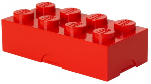 LEGO bac à pain Brick 8 junior 20 x 10 x 7,5 cm PP rouge