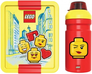 LEGO lunch set  Iconic 2-part yellow / red