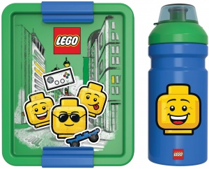 LEGO lunch set  Iconic 2-part green / blue
