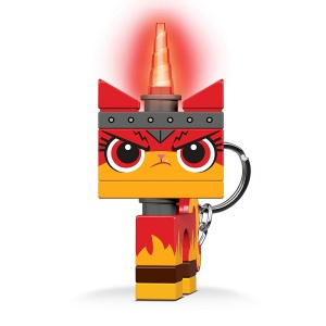 LEGO Movie 2: Angry Kitty keychain with light 7 cm red