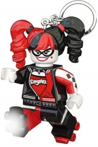 LEGO keychain Batman: Harley Quinn with light 7 cm black / red