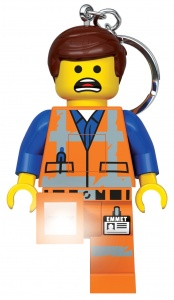 LEGO movie 2 key ring: Emmet with light 7 cm