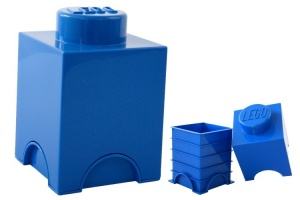LEGO Storage Brick 1 (1,2 L) Blue
