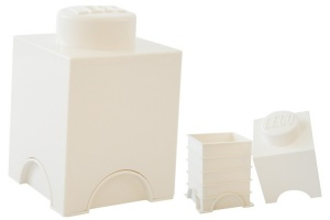 LEGO Storage Brick 1 (1,2 L) White