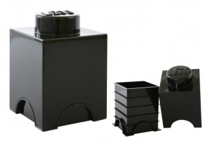 LEGO Storage Brick 1 (1.2L) Black