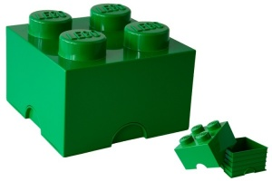 LEGO Storage Brick 4 (6L) Green