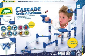 Lena marble track Space Adventure blue/white 52-part