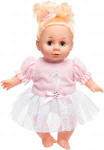 LG-Imports baby doll 30 cm blond pink/white