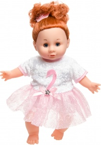 LG-Imports baby doll 30 cm brown pink/white