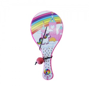 LG-Imports paddle with ball unicorn 12 cm pink