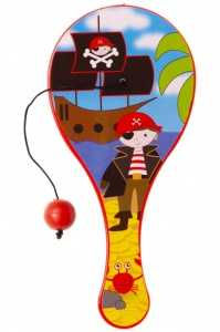 LG-Imports paddle with ball pirates 12 cm red