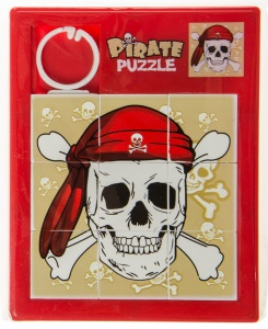 LG-Imports schiebepuzzle Piratenknochen 11,5 cm rot