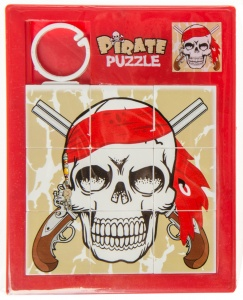 LG-Imports schiebepuzzle Piratenrevolver 11,5 cm rot